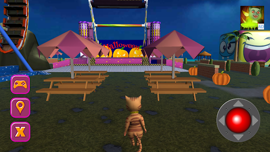 Download Halloween Cat Theme Park 3D 210216 Apk for android