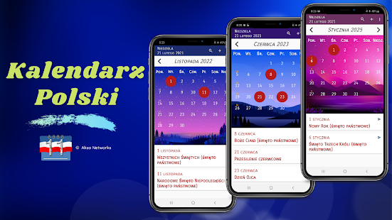 Download Kalendarz Polski 2021 ze świętami 5.1 Apk for android