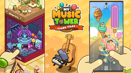 Download My Music Tower - Piano Tiles, Tycoon, Offline Game 01.00.60 Apk for android