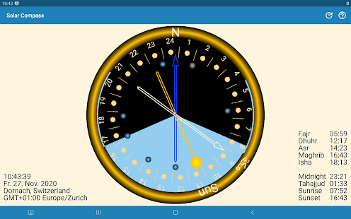 Download Sunclock - Sunrise, Sunset, Moonrise, Moonset 2.67 Apk for android