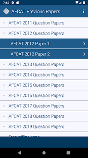 Download AFCAT Previous Papers free 1.0 Apk for android