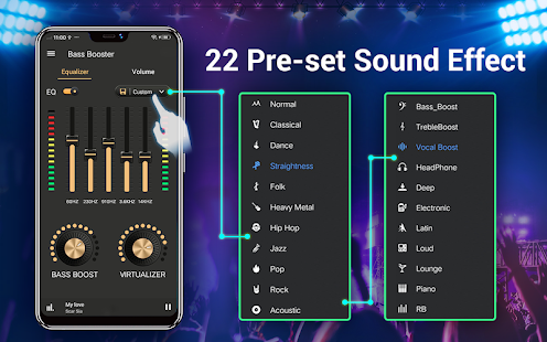 Download Equalizer -- Bass Booster & Volume EQ &Virtualizer 1.6.2 Apk for android