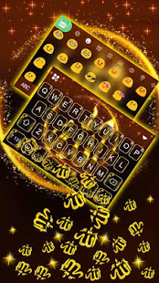 Download Gold Allah 3D Gravity Keyboard Theme 1.0 Apk for android