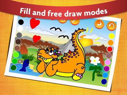 Download Kids Dinosaur Coloring Pages - Free Dino Game 27.1 Apk for android