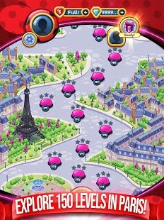 Download Miraculous Crush : A Ladybug & Cat Noir Match 3 3.5.1877 Apk for android