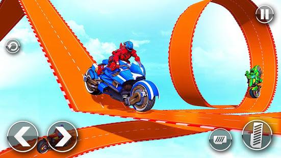 Download Police Robot Bike Stunt : Mega Ramp Bike Game 2021 1.43 Apk for android