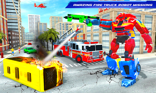 Download Firefighter Robot Transforming Truck Robot Games 83 Apk for android