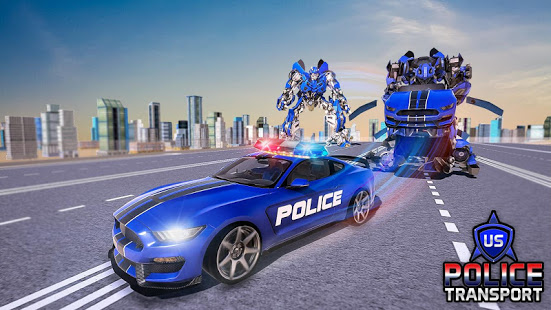 Download US Police Robot Transform - Police Plane Transport 6.5 Apk for android