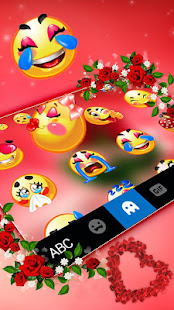 Download Love Red Rose Keyboard Theme 1.0 Apk for android