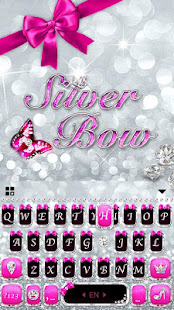 Download Silver Bowknot Keyboard Theme 1.0 Apk for android