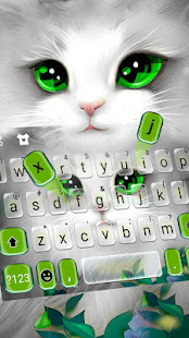 Download White Cute Cat Keyboard Theme 1.0 Apk for android